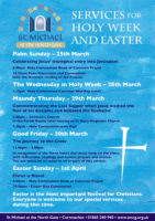Holy Week and Easter 2018
